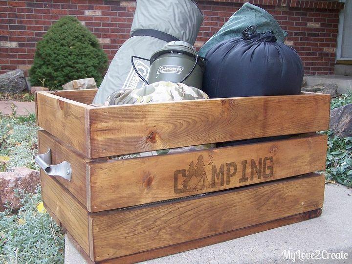 Make A Useful And Cute Camping Crate Hometalk