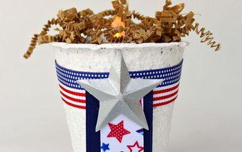 Glittery Fourth of July Decor DIY