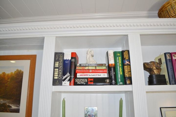 The freshened up book cases look much better.