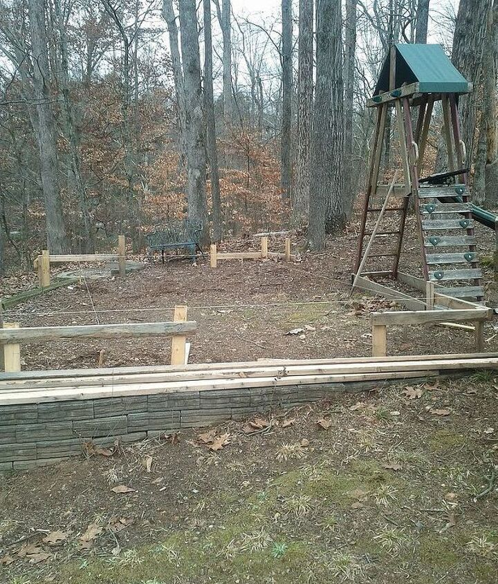 The kids wore the old swing out.  What a great place for a chicken house.