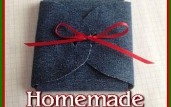 homemade denim gift box, crafts