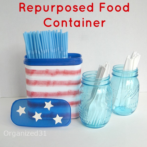 This no-cost repurposed can has been useful and many summer picnics and cookouts.