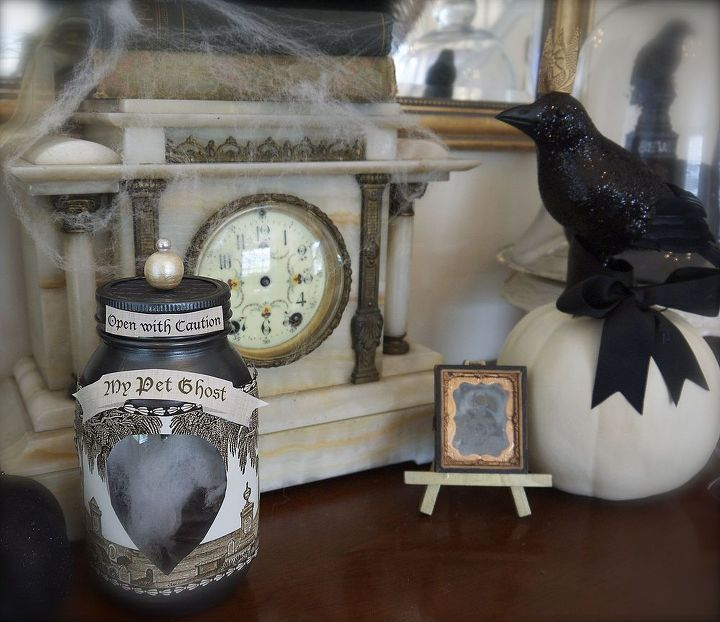 pet ghost in a jar, crafts, halloween decorations, seasonal holiday decor
