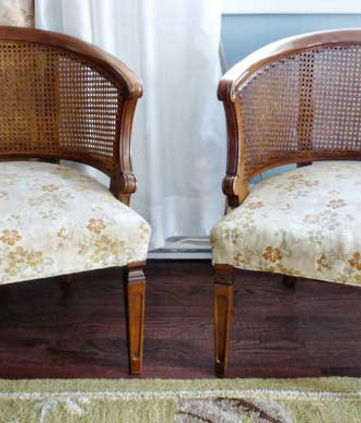Before: Cane chairs scored on Craigslist.