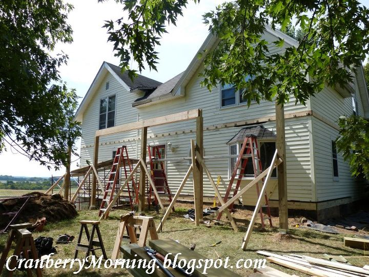 q building a front porch wall thickness question, curb appeal, diy, how to, porches, Early Stage Front Porch