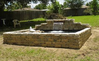 raised formal koi pond and patio, concrete masonry, outdoor living, ponds water features