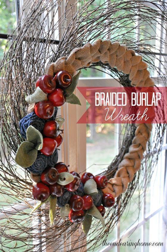 braided burlap wreath, crafts, seasonal holiday decor, wreaths