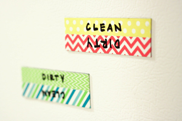5 minute diy project a clean dirty dishwasher magnet, crafts