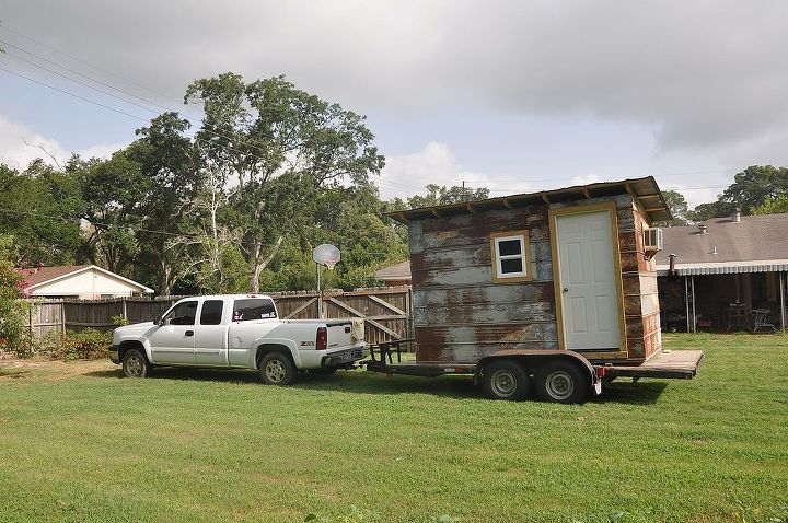 our mini home away from home project, diy, woodworking projects, The completed project headed for its new home