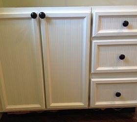 update cabinet doors from plank panel to bead beautiful hometalk rh hometalk com Decals for Kitchen Cabinet Doors Small Kitchen Decorating Ideas