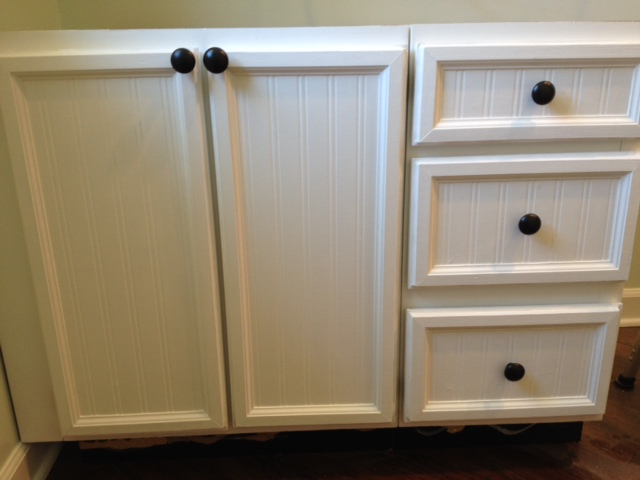 update cabinet doors from plank panel to bead beautiful, diy, kitchen cabinets, woodworking projects