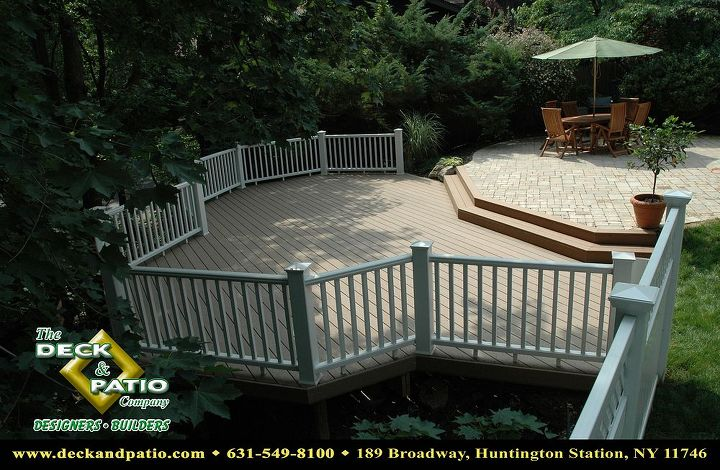 Trex deck and with Transend rail
