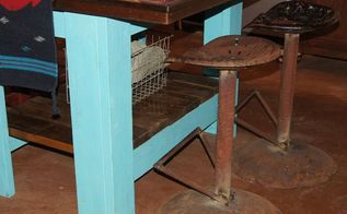 bar stools made from tractor seats found while on hometalk outing, home decor, repurposing upcycling