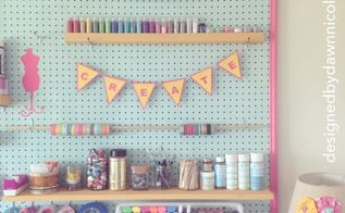 diy craft room jumbo framed pegboard wall, cleaning tips, craft rooms, crafts, home decor