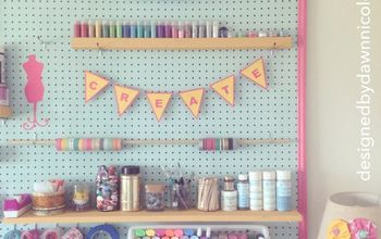 DIY Craft Room: Jumbo Framed Pegboard Wall