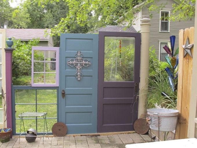 the fence recycling old doors and windows, fences, repurposing upcycling, 1st section