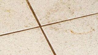 q unloved bathroom help, bathroom ideas, cleaning tips, diy, flooring, home improvement, home maintenance repairs, tile flooring, tiling, dirt and grim before groutshield