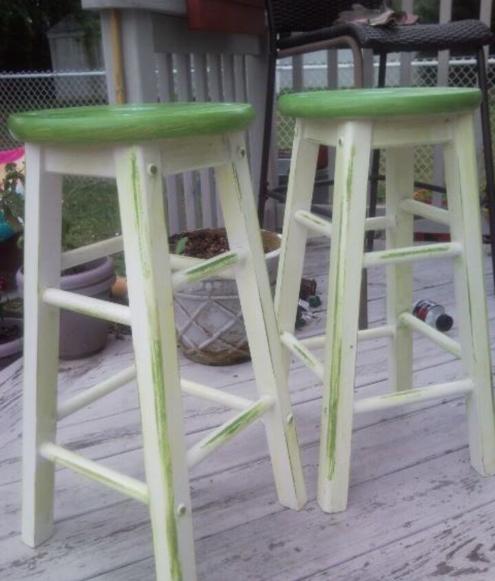 sanded and distressed and then painted