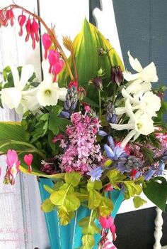 gather flowers for a may day basket, crafts, flowers, gardening, wreaths, May Day Basket