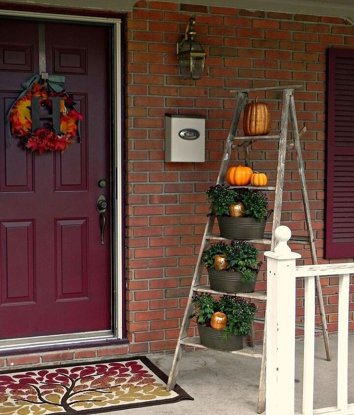 Our front porch all decked out for Fall!