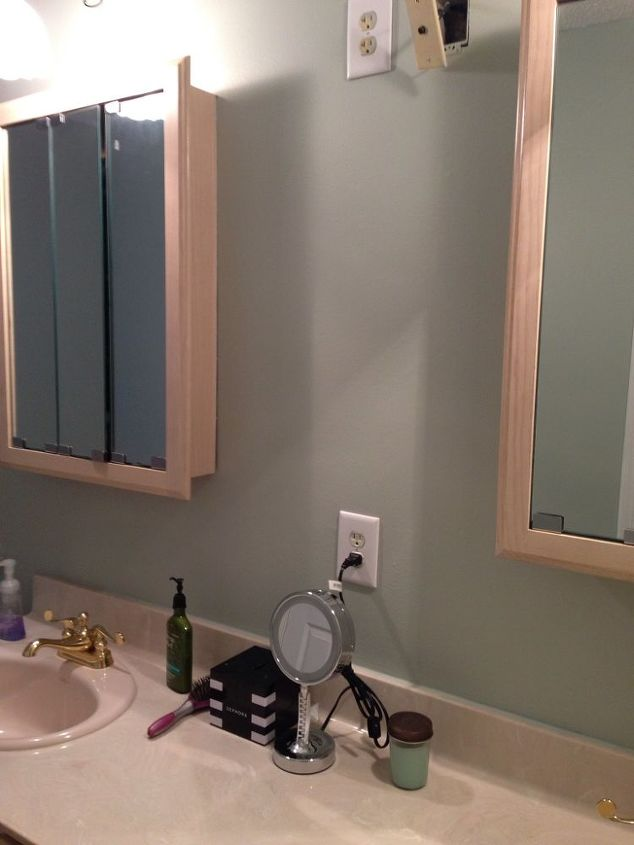 New paint before I replaced medicine cabinets!