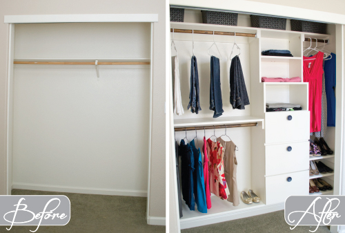 Diy Closet Kit For Under 50 Organizing Shelving Ideas Storage Before After