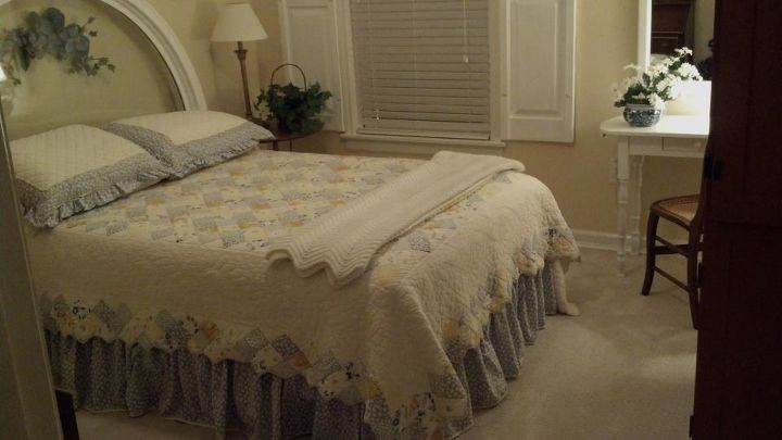 recycling salvaged pieces to decorate a bedroom, bedroom ideas, repurposing upcycling, window treatments, Guest Bedroom