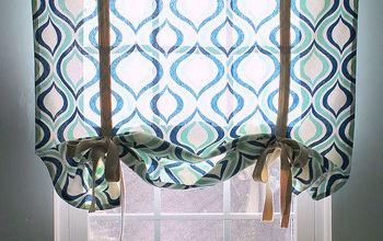simple roman shade, bedroom ideas, crafts, home decor, reupholster, window treatments, windows