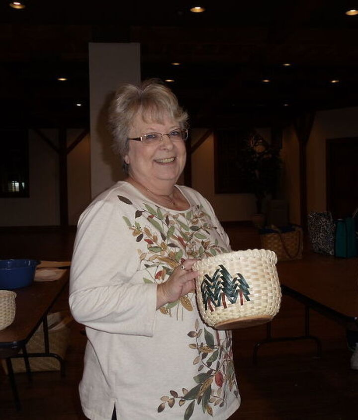 Instructor with her basket