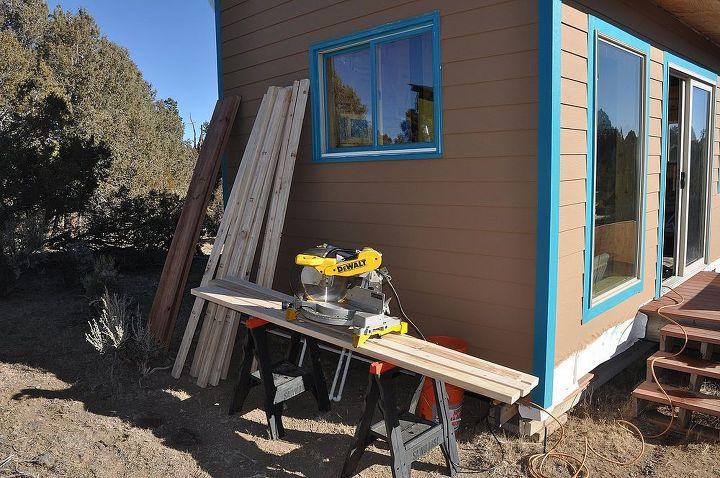 Working on a wood shed / bath addition