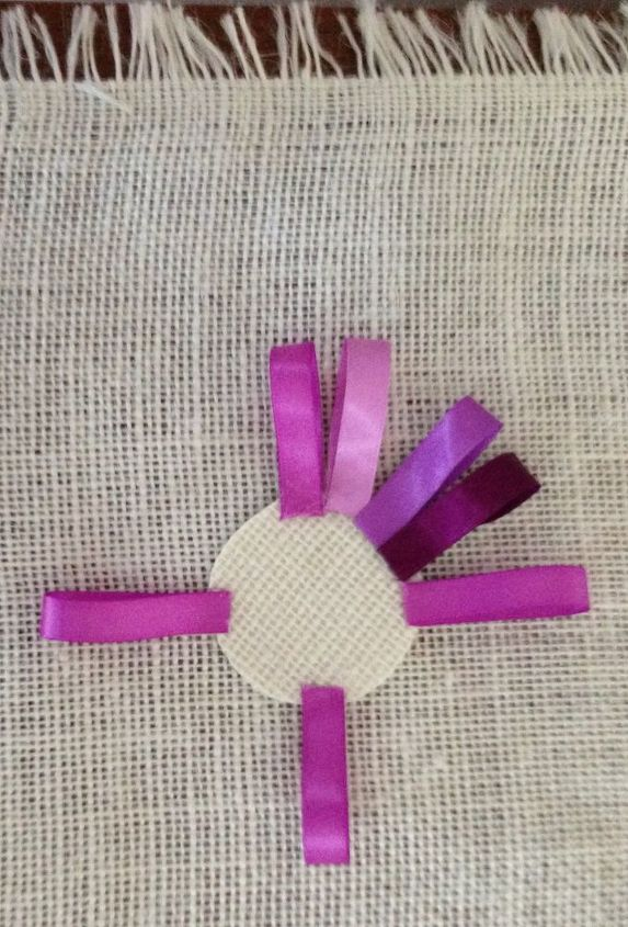 Ribbons are so colorful and plentiful.  Easy to cut, fold and glue into an awesome loopy flower.