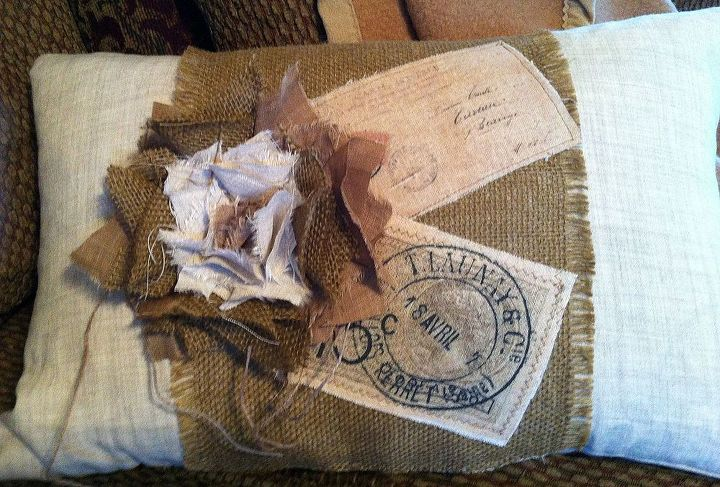 shabby french pillows, crafts, home decor