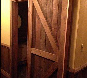 Perfect Rustic Half Bath, Bathroom Ideas, Doors, Home Decor, Sliding Barn Door