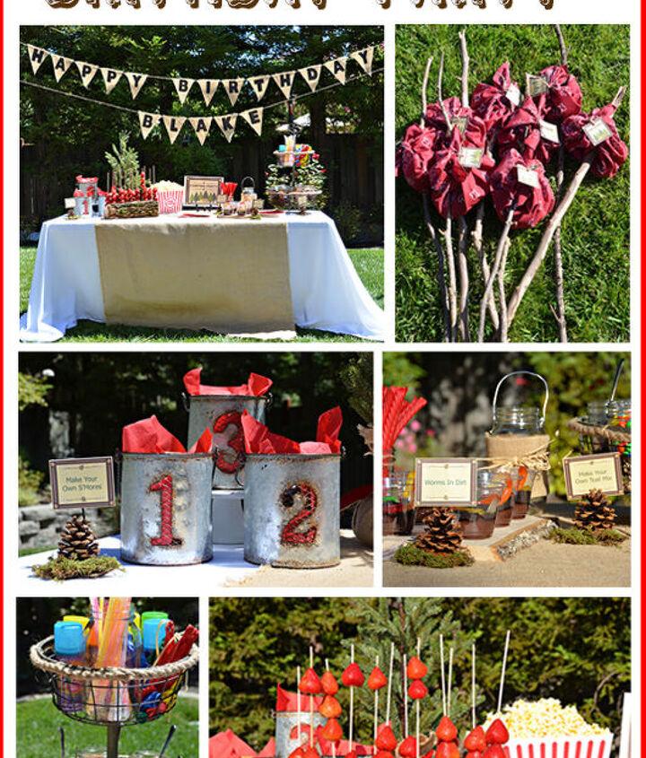 Tidbits&Twine: Backyard Campout Birthday Party