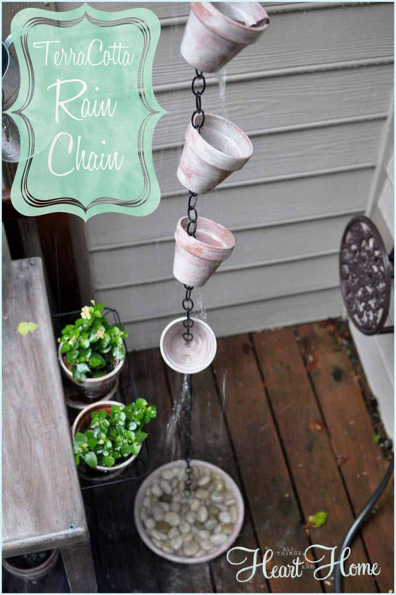 A rain chains can be functional if used in place of downspout but mine is more of a lovely little water feature~