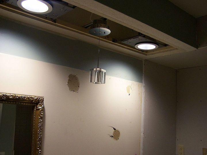 LED lights put in