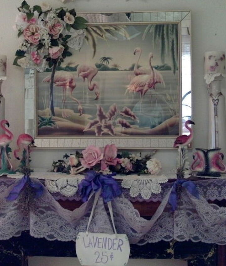 I have decorated with shades of lavender and pink
