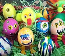 3 fun easter egg decorating ideas, crafts, easter decorations, painting, seasonal holiday decor