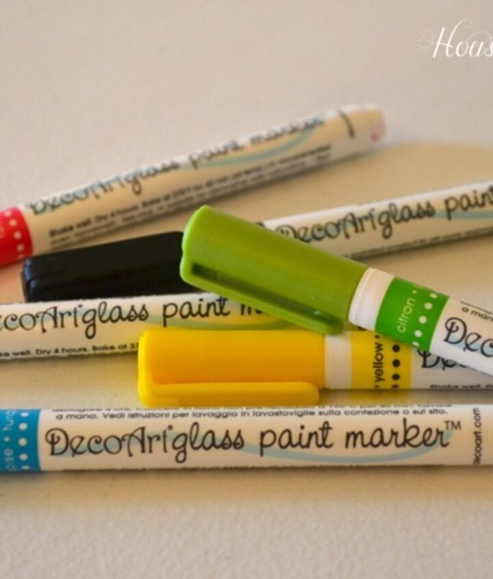These DecoArt glass paint markers are great! The colors are bright and fun.