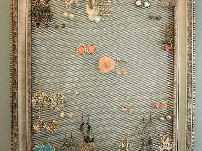 diy earring holder display, cleaning tips, crafts, Earring Holder Display