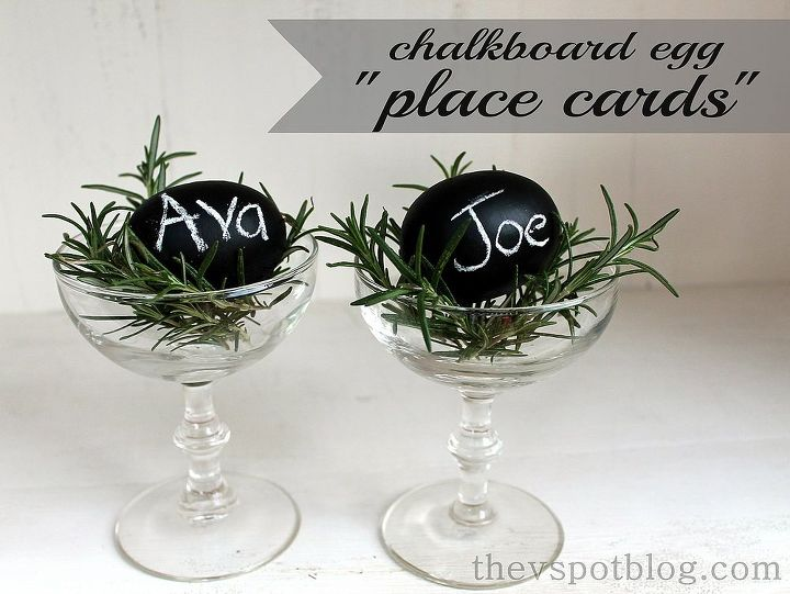 These are so simple and quick to do! http://www.thevspotblog.com/2013/03/chalkboard-eggs-easy-last-minute-diy.html