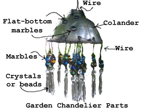 Make A Repurposed Garden Chandelier   Hometalk