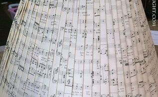 sheet music shade, crafts, home decor, the finished shade