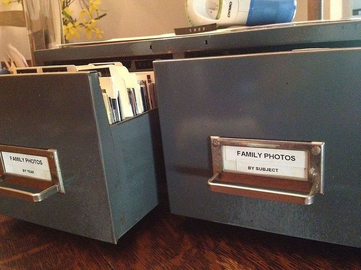 chic industrial photo organization, organizing, repurposing upcycling