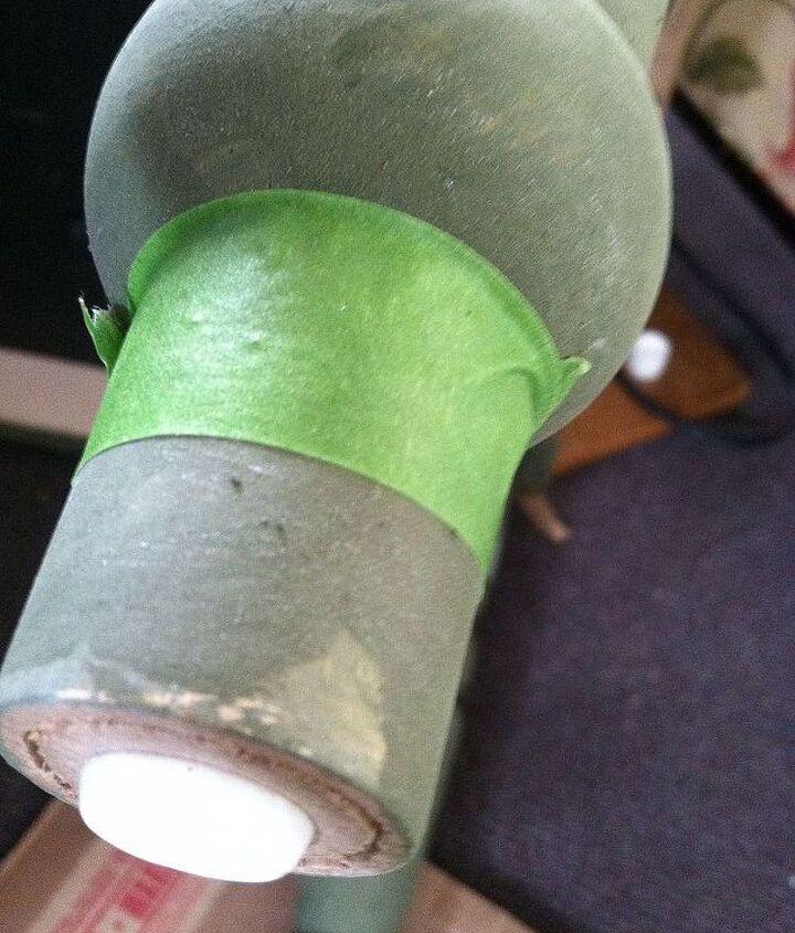 Leg taped off