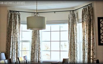 stenciled damask curtains tutorial, diy, home decor, how to, painting, DIY Stenciled Curtains