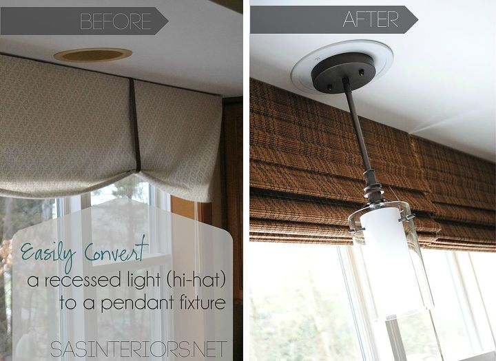 Easily Change A Recessed Light To Decorative Hanging Fixture Electrical Home Decor