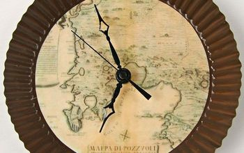 Make Your Own Wall Clock with an Antique Map Theme