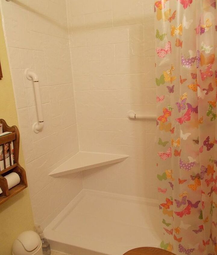 After, shower stall