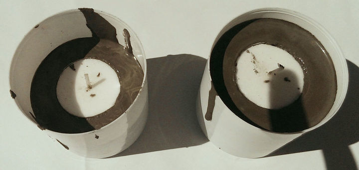 cement tea-light votives setting